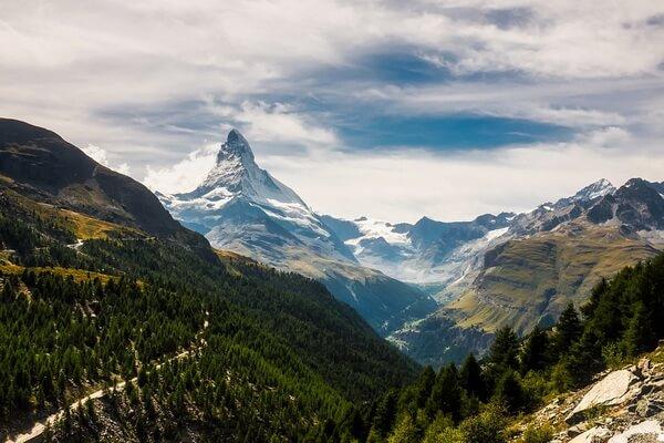 Самые высокие горы в Альпах - Маттерхорн (3-е место)