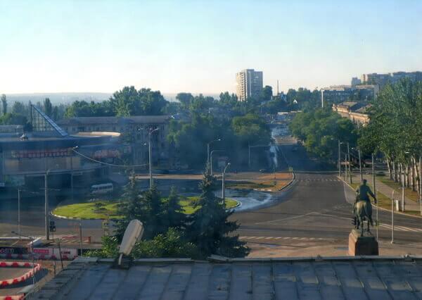 Вид из отеля «Космос» в Кишинёве