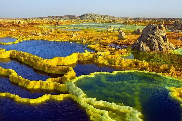 Вулкан Даллол в Эфиопии