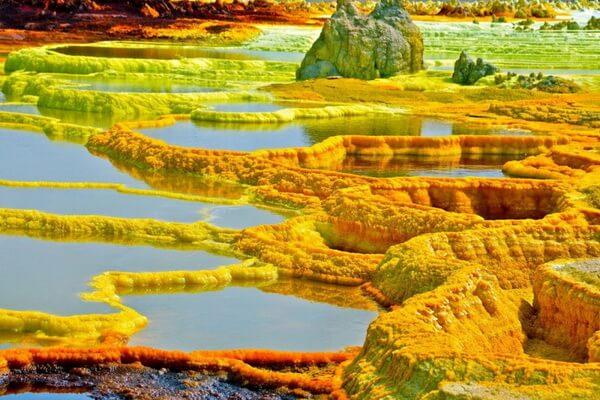 Фото вулкана Даллол в Эфиопии