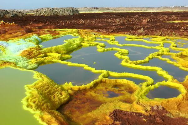 Кратер вулкана Даллол в Эфиопии - красивые фото