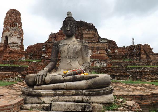 Храм Великой Реликвии (Ват Махатхат) в Сукхотае в Таиланде