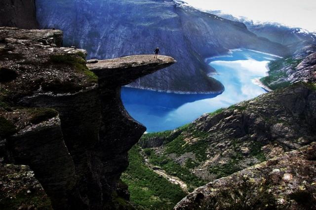 Скала Язык Тролля в Норвегии