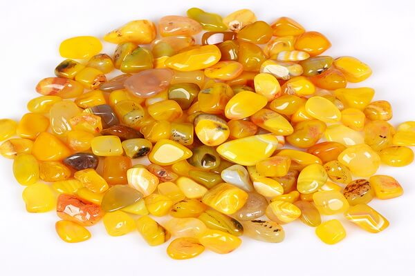 Драгоценные камни жёлтого цвета с фото и описанием - Жёлтый агат